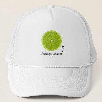 """ノベルティの""""sharpe""""のライムの帽子見ます キャップ"""