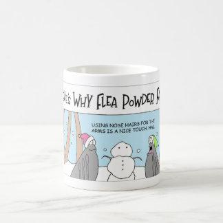 ノミは雪だるまを造ります コーヒーマグカップ