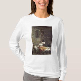 ノミを持つ女性 Tシャツ