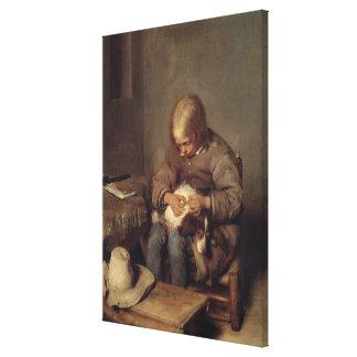 ノミキャッチャーc.1655 キャンバスプリント