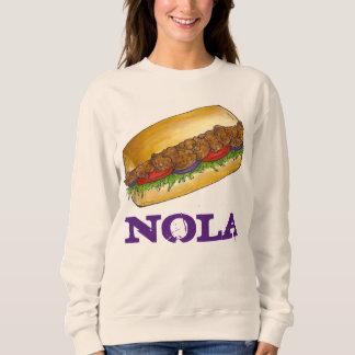 ノラニュー・オーリンズのエビのPo'Boyサンドイッチスエットシャツ スウェットシャツ