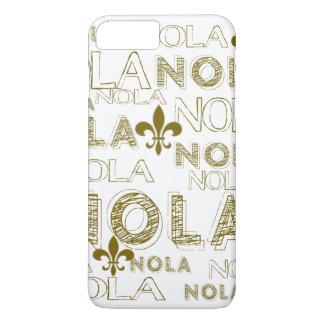 ノラノラノラの金ゴールドのアヤメ iPhone 8 PLUS/7 PLUSケース