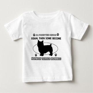 ノリッジテリアのお母さんのデザイン ベビーTシャツ