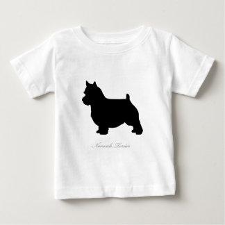ノリッジテリアのシルエット ベビーTシャツ