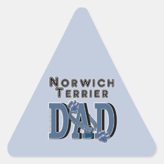 ノリッジテリアのパパ 三角形シール
