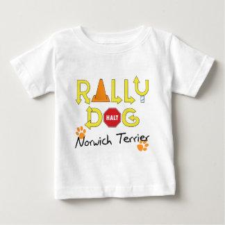 ノリッジテリアの再結集犬 ベビーTシャツ