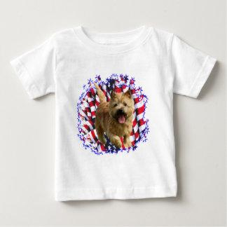 ノリッジテリアの愛国者 ベビーTシャツ