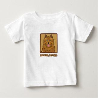 ノリッジテリアの漫画 ベビーTシャツ