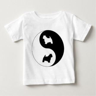 ノリッジテリアの陰陽 ベビーTシャツ