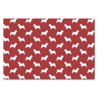 ノリッジテリアはパターン赤のシルエットを描きます 薄葉紙