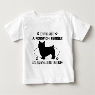 ノリッジテリア犬の品種デザイン ベビーTシャツ