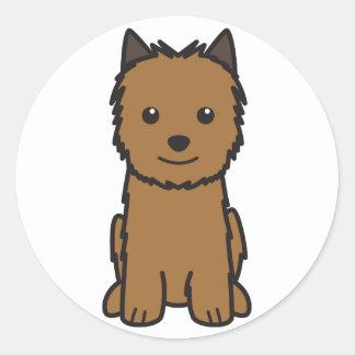 ノリッジテリア犬の漫画 ラウンドシール