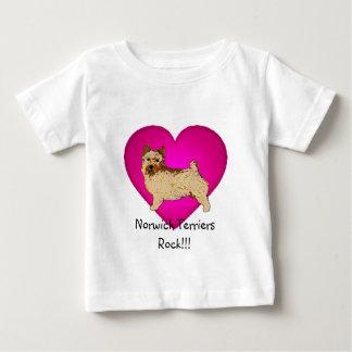 ノリッジテリア-残っている体 ベビーTシャツ