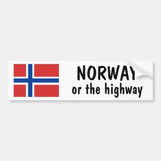 ノルウェーかハイウェー バンパーステッカー