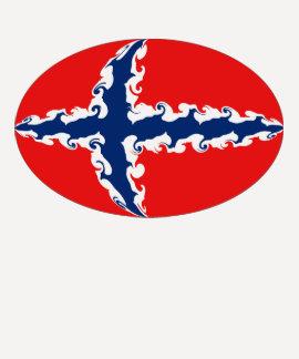 ノルウェーのすごい旗のTシャツ Tシャツ