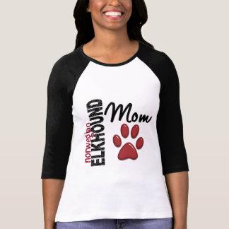 ノルウェーのエルクハウンドのお母さん2 Tシャツ