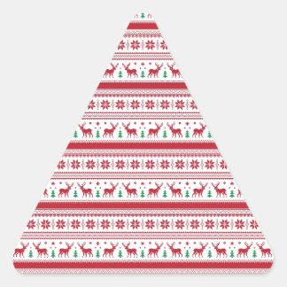 ノルウェーのクリスマスのスタイル 三角形シール