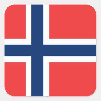 ノルウェーのステッカー(正方形)の旗 スクエアシール