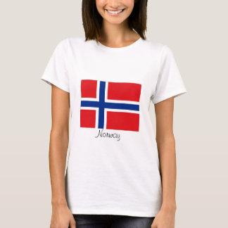 ノルウェーのノルウェーの旗のTシャツ Tシャツ