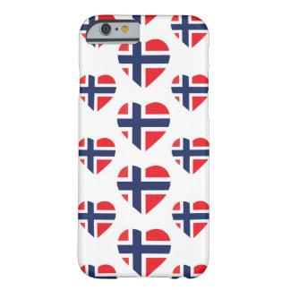 ノルウェーのハートの形の旗 BARELY THERE iPhone 6 ケース