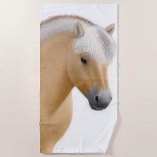 ノルウェーのフィヨルドの馬の芸術のビーチタオル ビーチタオル