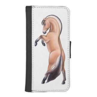 ノルウェーのフィヨルドの馬のiPhoneの箱の養育 iPhoneSE/5/5sウォレットケース