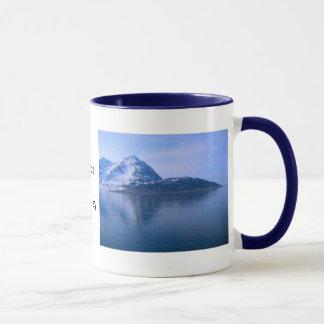 ノルウェーのフィヨルドへの入口 マグカップ