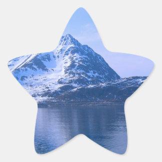 ノルウェーのフィヨルドへの入口 星シール