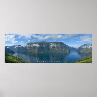 ノルウェーのフィヨルドポスター ポスター