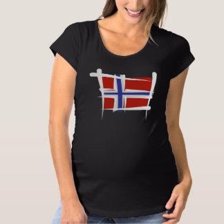 ノルウェーのブラシの旗 マタニティTシャツ