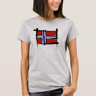 ノルウェーのブラシの旗 Tシャツ