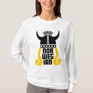 ノルウェーのプリンセスのおもしろいな女性長袖T Tシャツ