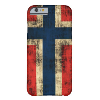 ノルウェーのヴィンテージのグランジな旗 BARELY THERE iPhone 6 ケース