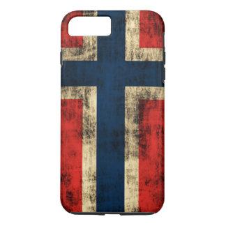 ノルウェーのヴィンテージのグランジな旗 iPhone 8 PLUS/7 PLUSケース