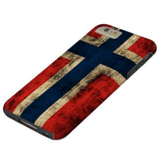 ノルウェーのヴィンテージのグランジな旗 TOUGH iPhone 6 PLUS ケース