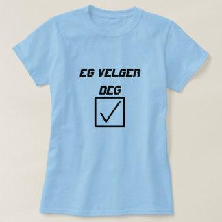 ノルウェーの例えば単語のvelger deg tシャツ