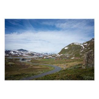 ノルウェーの写真のプリントの山の景色 フォトプリント