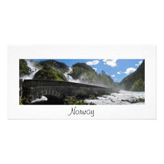 ノルウェーの写真カードのLatefossenの滝 カード