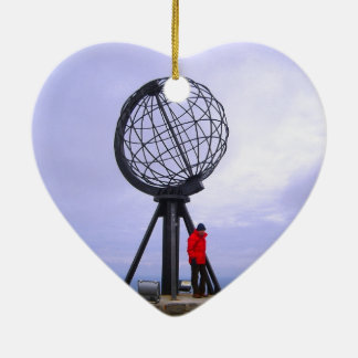 ノルウェーの北岬、地球の記号 セラミックオーナメント