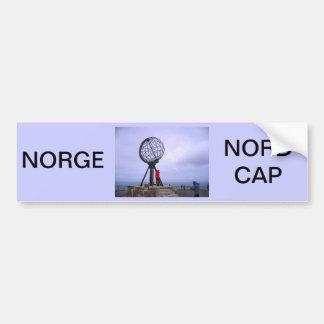 ノルウェーの北岬、地球の記号 バンパーステッカー