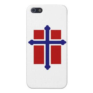 ノルウェーの十字の旗 iPhone 5 ケース