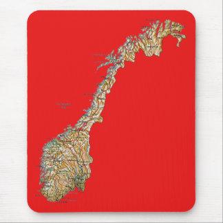 ノルウェーの地図のマウスパッド マウスパッド
