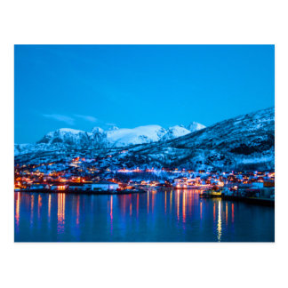 ノルウェーの夜反射 ポストカード