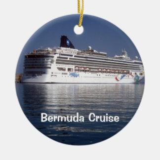 ノルウェーの夜明け、バミューダ島の巡航 セラミックオーナメント