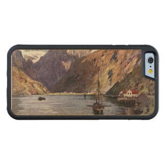 ノルウェーの川および山 CarvedメープルiPhone 6バンパーケース