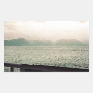 ノルウェーの巡航 長方形シール