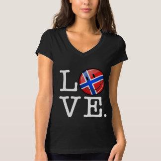 ノルウェーの微笑の旗からの愛 Tシャツ