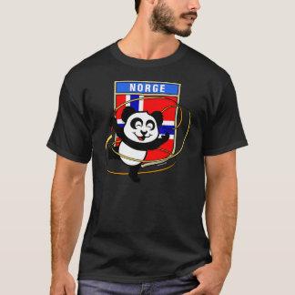 ノルウェーの新体操のパンダのワイシャツ Tシャツ