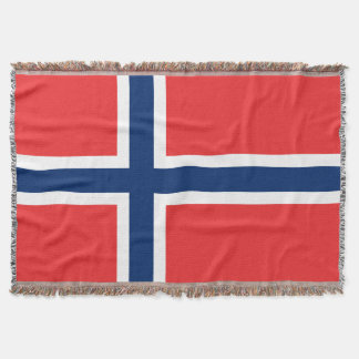 ノルウェーの旗によって編まれる投球毛布 ノルウェーのプライド スローブランケット