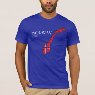 ノルウェーの旗の地図のワイシャツ Tシャツ